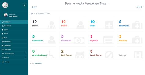 templates for hospital management in asp net bayanno hospital management system by creativeitem