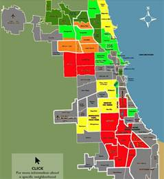 chicago map bad areas areas to avoid in chicago map
