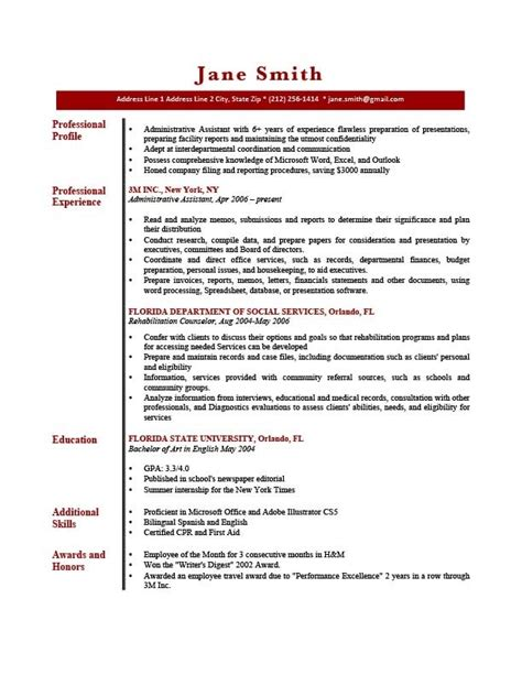 Resume Professional Profile by Sle Resume Profile Jennywashere