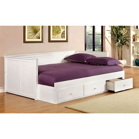 Furniture Daybed by Furniture Of America Wolford Size Daybed In White