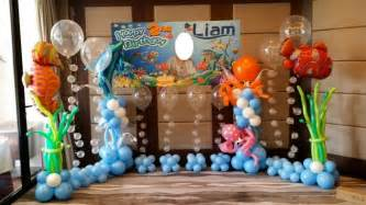 Baby Boy Shower Decorating Ideas Under The Sea Backdrop Decoration Package Simple