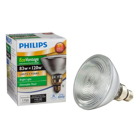 Lu Philips Par 38 Ec Flood philips 120w equivalent halogen par38 dimmable indoor