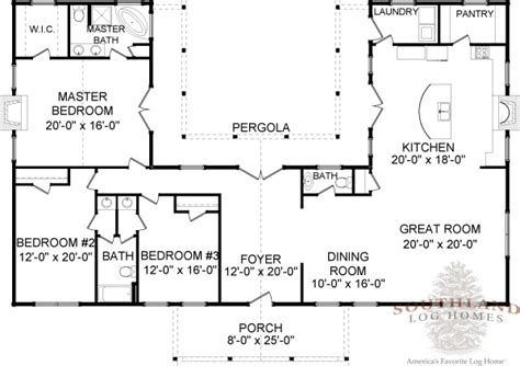 one story log home floor plans four seasons plans information southland log homes