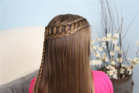 Ladder Hairstyle by Feather Waterfall Ladder Braid Combo 2 In 1 Hairstyles