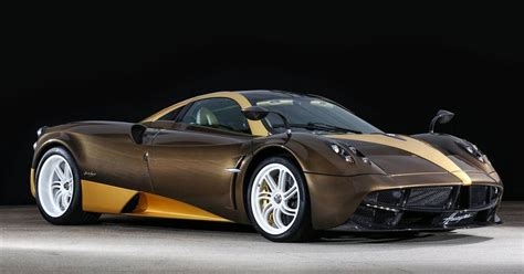 pagani huayra gold gold and brown pagani huayra headed to