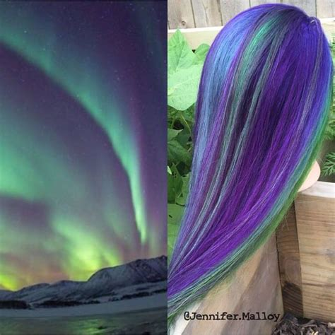 what color are the northern lights northern lights inspo picture and hair color