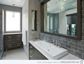 gray tile bathroom ideas a look at 15 sophisticated gray bathroom designs home design lover