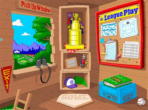 backyard baseball 2000 backyard baseball windows the main menu