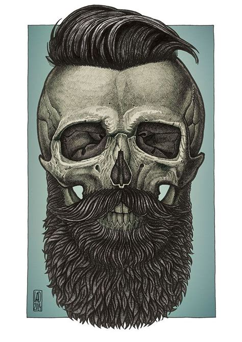 bearded skull tattoo bearded by vadim zhulanov from moscow russia more