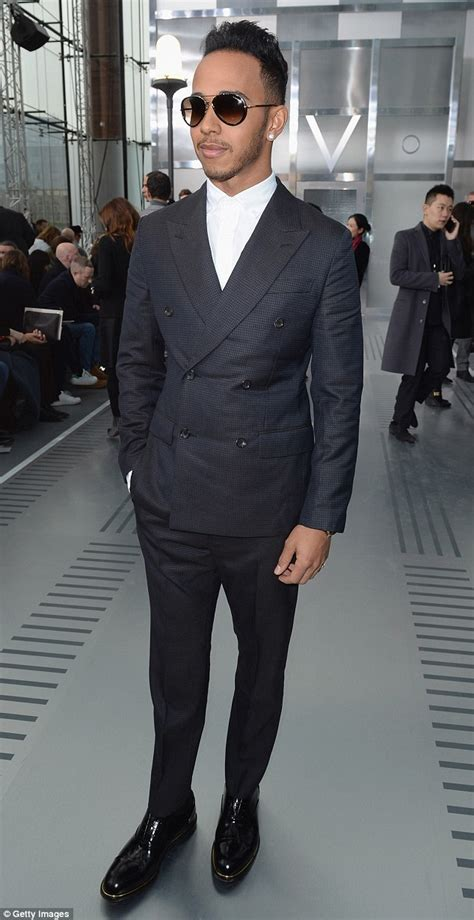 lewis hamilton shows off new lewis hamilton shows edgy new hairdo at fashion show
