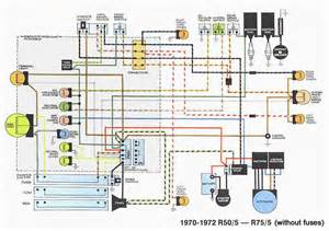 wiring diagram of 1970 1972 bmw r50 5 r75 5 60673 circuit and wiring diagram