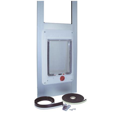 electronic patio pet door reg height white