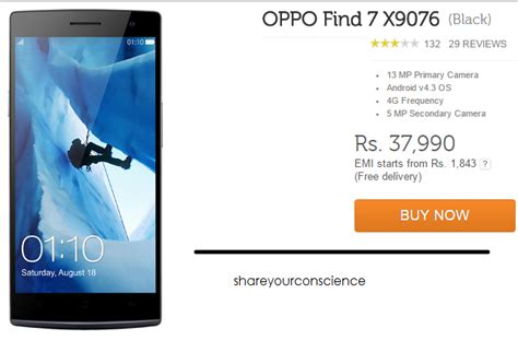Oppo Find 7 X9076 Hitam buy oppo find 7 x9076 black your conscience a