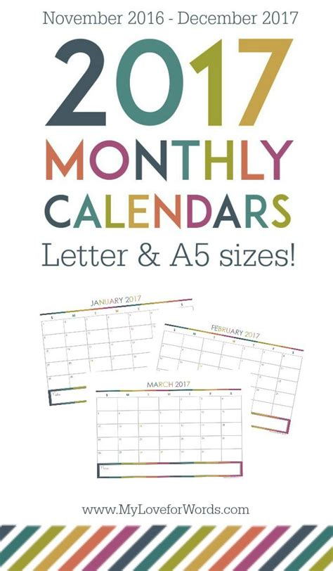 38 best diy printable 2017 calendars images on 32 best images about diy printable 2017 calendars on free calendar print and