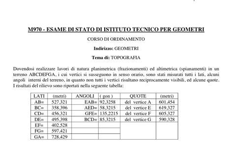 diritto agrario dispense tracce soluzioni seconda prova geometri dal 1969 al 2017
