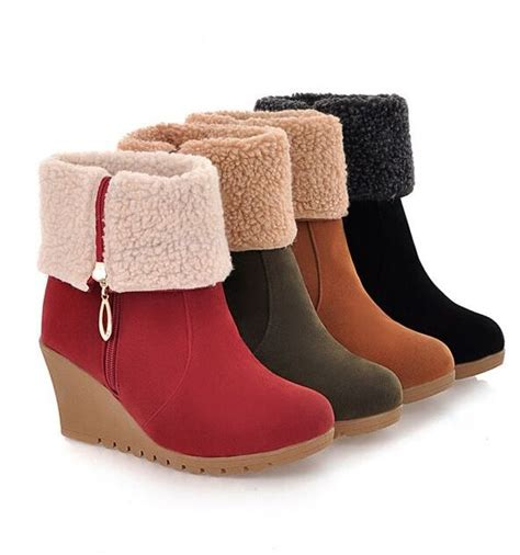 Platform Wedge Snow Boots winter snow boots platform wedges high heels boots wedges