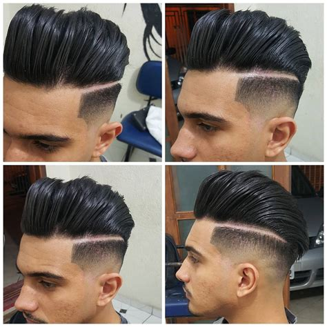 haircuts with edged part mens 40 modern pompadour hairstyles for men with images atoz