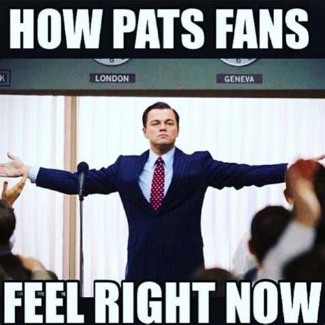 Patriots Fan Meme - how pats fans feel right now