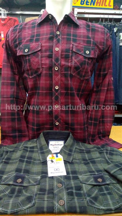 Fbs32 Kemeja Flanel Big Size Ukuran Besar Size Xxxl kasual flanel pakaian slim lengan panjang baju kemeja