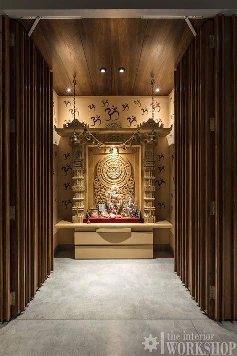 rustic minimalist apartment interiors pooja room design