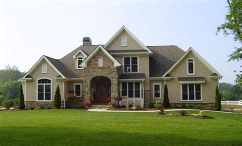 front face house design the hyde park plan 816 www dongardner com stone and stucco impressive front facing