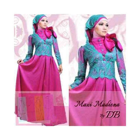 Gamis Pesta Modern Baju Gamis Satin Terbaru Busana Muslim Murah baju gamis pesta madisna navy s575 busana gaun pesta
