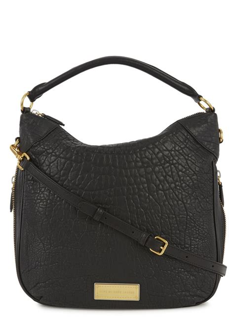 Marc By Marc Washed Utility Satchel by Marc By Marc Billy Washed Up Black Pebbled Leather