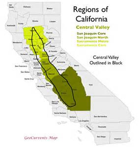 map of california valleys the regionalization of california part 2 geocurrents