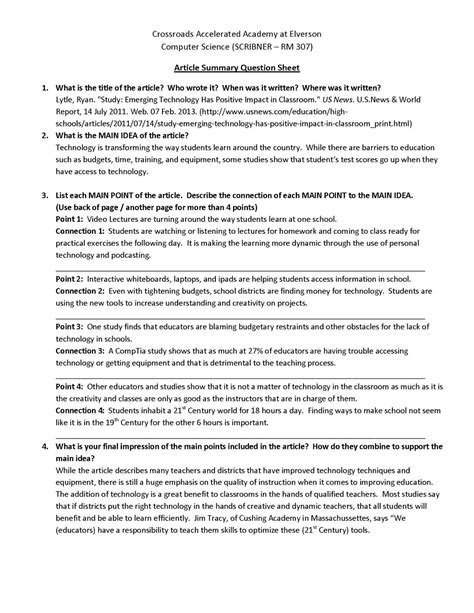 Collegium Charter School Technology Blog Mla Format Template Day Classroom Tech Article 21 3 Mla Summary Template