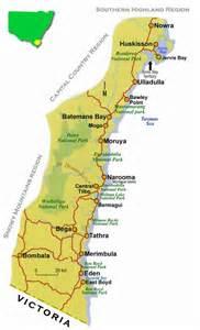 map of south coast south coast road maps nsw
