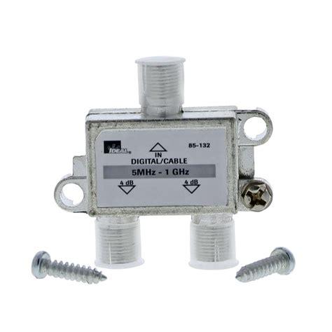 Spliter Tv 2 Way ideal 5 mhz 1 ghz 2 way high performance cable splitter standard package 4 splitters 85 132