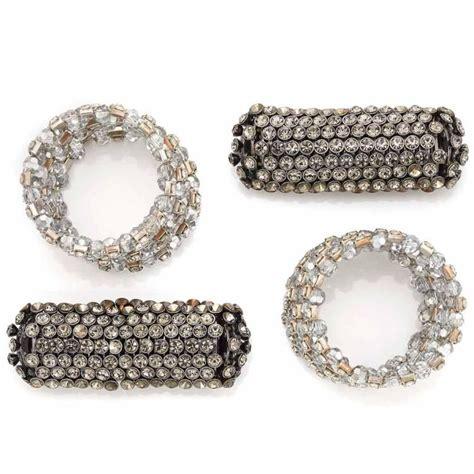 Kkst 214 Kalung Korea Statement Necklace two wide rhinestone bracelets and two rhinestone br
