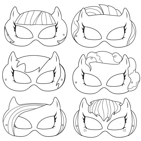 printable mask my little pony pony printable coloring masks pony costume by
