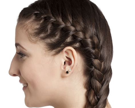 hair stayl with two choti french braid hairstyles ideas to look classical beautiful