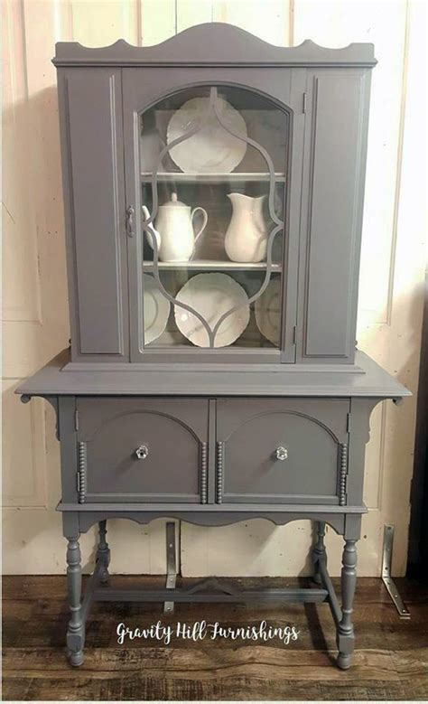 gray  tone china cabinet general finishes design center