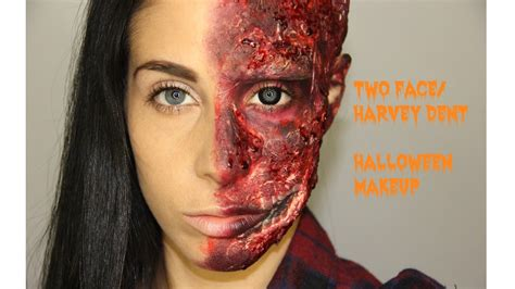 makeup tutorial two face two face harvey dent halloween makeup tutorial youtube