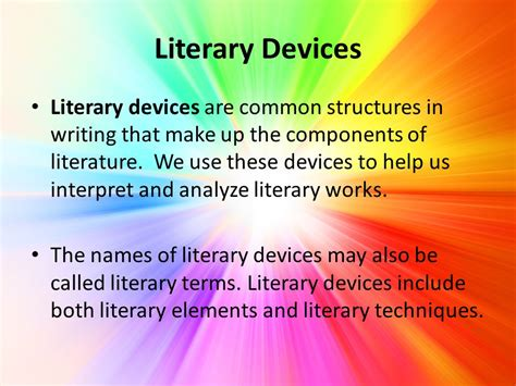 theme literary term powerpoint literary devices elements techniques ppt video online