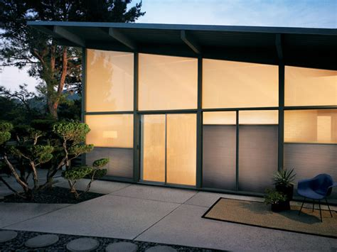 premier window coverings duette honeycomb shades midcentury exterior other