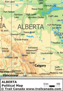 physical map of alberta canada