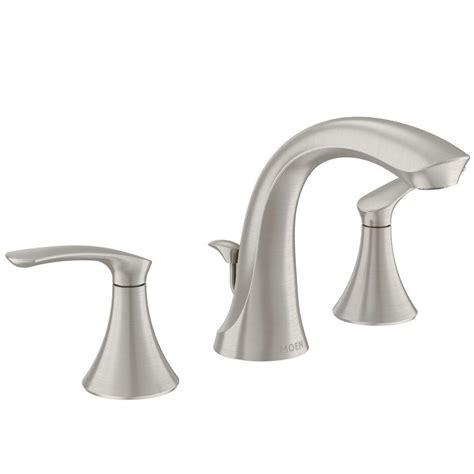 brushed nickel widespread bathroom faucet moen darcy 8 in widespread 2 handle high arc bathroom faucet in spot resist brushed
