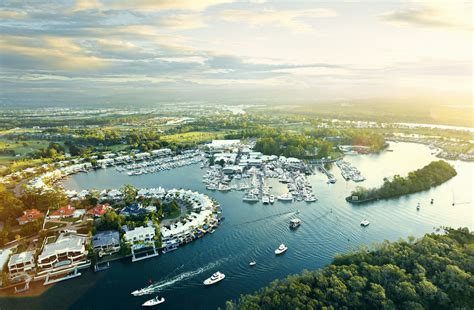 boat brokers sanctuary cove aerial view of sanctuary cove international boat show