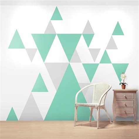 paint patterns for walls geometric pattern giant wall sticker set wall sticker