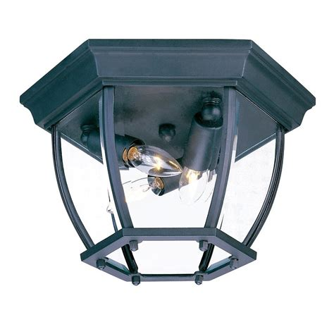 Mounting Outdoor Lights Shop Acclaim Lighting 11 In W Matte Black Outdoor Flush Mount Light At Lowes