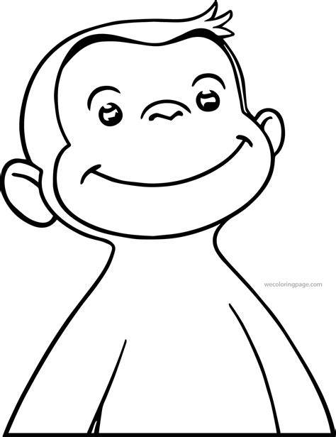 coloring page of a monkey face monkey face coloring page