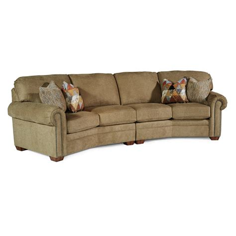 conversation sofa flexsteel 7270 325 harrison fabric conversation sofa with