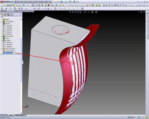 solidworks pattern of bodies solidworks design simple tutorial cut surface solid bodies