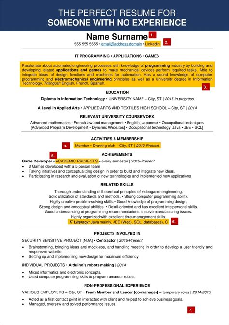 resume example for teenager how to write a with no work experience