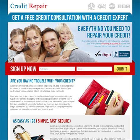 Credit Repair Business Website Template credit repair landing page design template to boost your