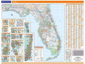 wall map of florida rand mcnally florida map one map place inc