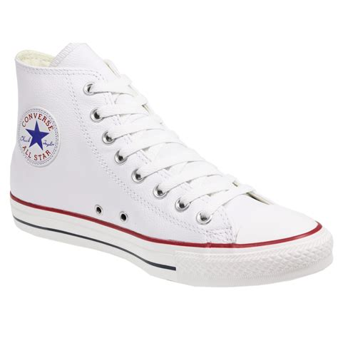 converse all chuck 132169 white leather hi top